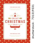 christmas sale flyer or poster... | Shutterstock .eps vector #731319331