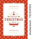 christmas sale flyer or poster... | Shutterstock .eps vector #731319331