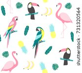 tropical seamless pattern with... | Shutterstock .eps vector #731320564