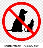 no pets allowed sign. round red ... | Shutterstock .eps vector #731322559