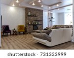 living room with a beautiful... | Shutterstock . vector #731323999