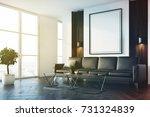 upscale living room interior... | Shutterstock . vector #731324839