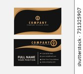 black and gold business card... | Shutterstock .eps vector #731325907