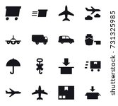 16 vector icon set   delivery ... | Shutterstock .eps vector #731325985