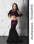 beautiful arabian bellydancer... | Shutterstock . vector #731326945