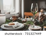 festive christmas and new year... | Shutterstock . vector #731327449
