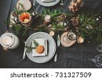 festive christmas and new year... | Shutterstock . vector #731327509