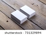 photo of business cards.... | Shutterstock . vector #731329894