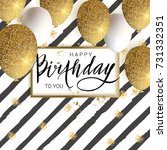happy birthday design.white and ... | Shutterstock .eps vector #731332351