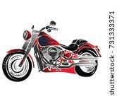 motorbike vector | Shutterstock .eps vector #731333371