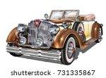 vintage car | Shutterstock .eps vector #731335867