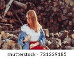 portrait of young tender... | Shutterstock . vector #731339185
