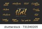 french lettering joyeux noel ... | Shutterstock .eps vector #731340205