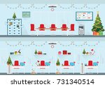 modern interior of christmas...   Shutterstock .eps vector #731340514