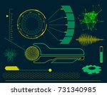 futuristic hud interface... | Shutterstock .eps vector #731340985