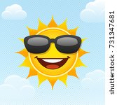 sun in the sky. vector ...   Shutterstock .eps vector #731347681