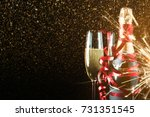new year champagne. champagne... | Shutterstock . vector #731351545