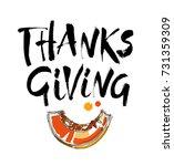 vector thanksgiving lettering... | Shutterstock .eps vector #731359309
