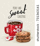 christmas theme  christmas... | Shutterstock .eps vector #731363161