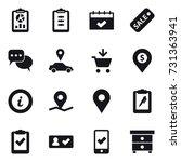16 vector icon set   report ...   Shutterstock .eps vector #731363941