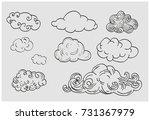 set of old school tattoos. hand ... | Shutterstock .eps vector #731367979