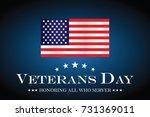 us flag veterans day. | Shutterstock .eps vector #731369011