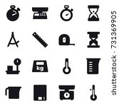 16 vector icon set   stopwatch  ... | Shutterstock .eps vector #731369905