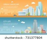 web banner modern vector... | Shutterstock .eps vector #731377804