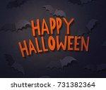 halloween background with... | Shutterstock . vector #731382364