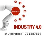 industry 4.0 management  by a... | Shutterstock . vector #731387899