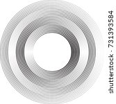 lines in circle form . spiral... | Shutterstock .eps vector #731393584