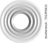 lines in circle form . spiral... | Shutterstock .eps vector #731393611