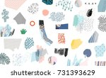 creative art header with... | Shutterstock .eps vector #731393629