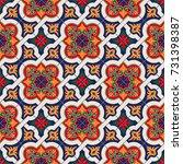 gorgeous seamless pattern white ... | Shutterstock .eps vector #731398387