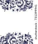 vintage delicate invitation...   Shutterstock .eps vector #731399941