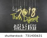 new year 2018 concepts on...   Shutterstock . vector #731400631