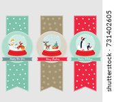 set of holiday banners and... | Shutterstock .eps vector #731402605
