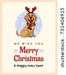 greetings card we wish you a... | Shutterstock .eps vector #731406925
