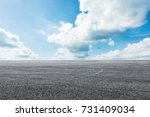 asphalt road circuit and sky... | Shutterstock . vector #731409034