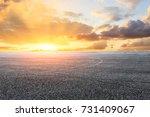 asphalt road circuit and sky...   Shutterstock . vector #731409067