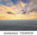 asphalt road circuit and sky...   Shutterstock . vector #731409154