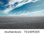 asphalt road circuit and sky... | Shutterstock . vector #731409205