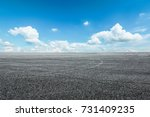 asphalt road circuit and sky... | Shutterstock . vector #731409235
