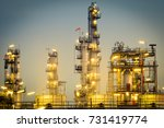 oil industry refinery factory ... | Shutterstock . vector #731419774