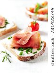 sandwiches with cheese and ham   Shutterstock . vector #731423749