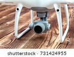 white drone isolated on a... | Shutterstock . vector #731424955
