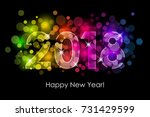 vector   2018 happy new year... | Shutterstock .eps vector #731429599