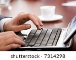 image of hand preparing to type ... | Shutterstock . vector #7314298