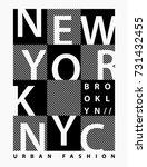 new york vector graphic for t... | Shutterstock .eps vector #731432455