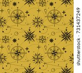 seamless pattern with vintage... | Shutterstock .eps vector #731437249